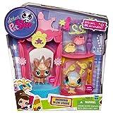 Hasbro - Littlest Pet Shop 99881 - Spielhaus, Haus inkl. 2 Tierchen #2520 Hund und #2519 Vogel und Zubehör