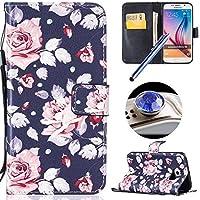 Etsue Custodia Samsung Galaxy S6 in Pelle Con Cinghia,Samsung Galaxy
