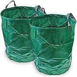 CampTeck 2x 300 Litri Sacchi per Rifiuti da Giardino Robusta Polipropilene Riutilizzabile Borsa da Giardino