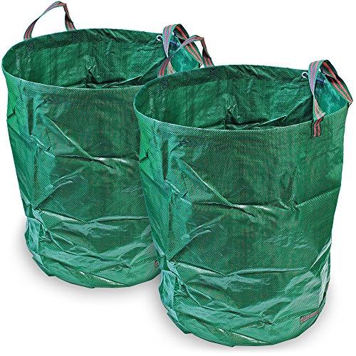 CampTeck 2x 300 Litros Bolsa Jardín Residuos Polipropileno