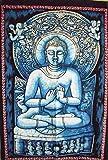 Pintado a mano Buda Póster, India Póster, arte de pared religiosa, de flores de dormitorio Decor, Hippie tapiz decoración de la pared 30'X 40'