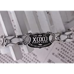 Pulsera Pulseras joyas Korean Decoration Kpop Group Exo Exo accesorios negro Fan XOXO joyas novedad