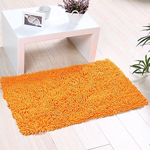 Eleoption, morbido tappeto da bagno a setole lunghe in ciniglia ...