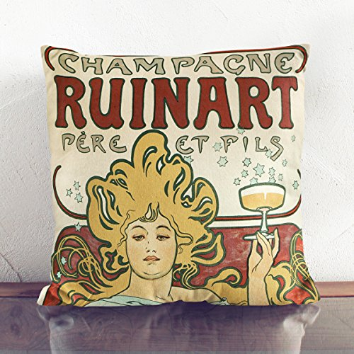 charcoal-backed-faux-suede-cushion-17x17-inch-45-x-45-cm-alphonse-mucha-champagne-ruinart-square-thr