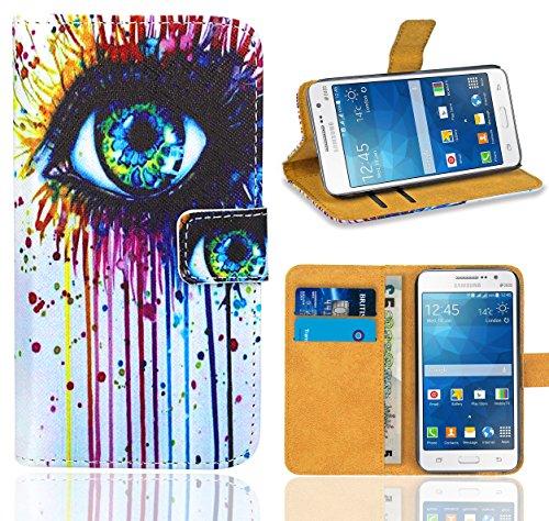 Samsung Galaxy Grand Prime Funda, FoneExpert Wallet Flip Billetera Carcasa Caso...