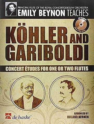 Köhler and Gariboldi, für ein oder zwei Flöten, m. Audio-CD