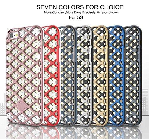 """iPhone SE/5S/5 Coque, AOFad Case Mince Protection des lourds 2-à-1 Argent TPU Avec 11 Colors Urban-Knight Accessoires Série Pour Femme Homme 4"""" I622 AOFad B327"""