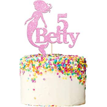 Personalised Girls Birthday Cake Topper