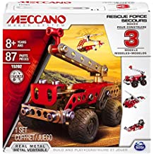 Meccano 6026714 - Fuerzas de seguridad al rescate, 3 modelos distintos, juego de construcción