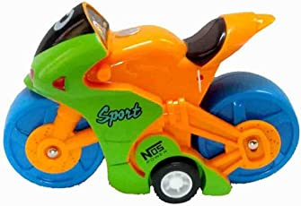 Must Visit Cute Small Fashionable MotorBike Toy Multi Color Made Of BPA Free Plastic Material For Kids.
