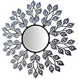Mirror2 : Lulu Decor, Decorative Leaf Metal Wall Mirror (Mirror2)