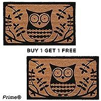 BUY 1 Get 1 FREE Owl Coir Doormat 40 x 60cm Heavy Duty, Non Slip Backing Doormat 100% Coir & PVC Back Entrance Mat