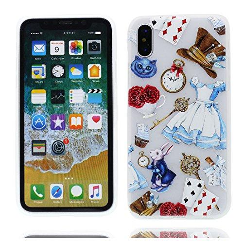 iPhone X Custodia, iPhone 10 Copertura Crystal Case gel trasparente [Slim-Fit] [Anti-Scratch] [assorbimento di scossa] [Supporta la ricarica wireless] iPhone X Copertura (Nuova moda) # 1