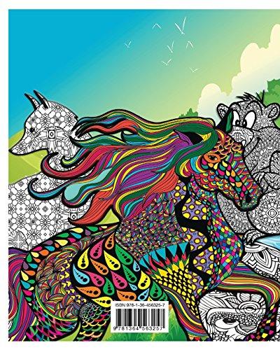 Libro animali dello zoo libro da colorare per adulti di for Animali da colorare per adulti