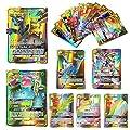 Yueyue 100 Pcs Pokemon GX Flash Cartes Style TCG Holo Puzzle Jeu De Cartes Amusant, Cartes Pokémon Paquets Unbroken Bonds TAG Team, Jeu de Cartes à Collectionner, 2019 Nouveau