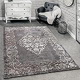 Paco Home Designer Teppich Modern Wohnzimmer Teppiche 3D Barock Muster In Grau Beige Creme, Grösse:160x230 cm