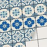 creatisto Mosaik Klebefliesen Stickerfliesen Fliesenfolie - Aufkleber Folie für Fliesen | Stickerfliesen - Mosaikfliesen für Küche, Bad, WC Bordüre (10x10 cm | 9 -Teilig)