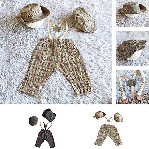 Einfache Kostüm Super Mädchen - Centitenk 3PCS / Set Neugeborene Fotografie Props Retro Fotosession Baby Baby-Mütze Hose Crochet Strickmode-Kostüm-Ausstattung