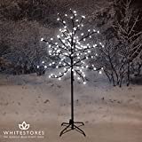 Mercer Leisure 1.5m Pre-Lighted Christmas LED Cherry Blossom Tree with 150 Bright White Lights