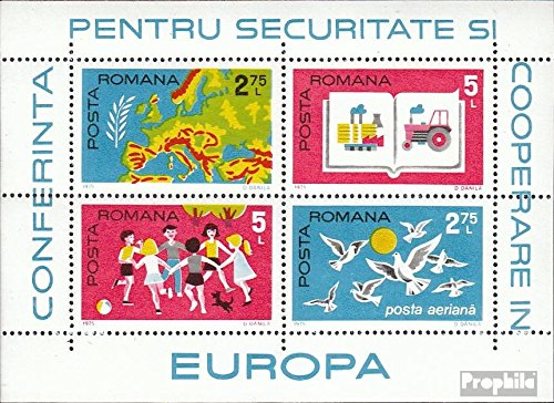 Prophila Collection Rumänien Block124 (kompl.Ausg.) 1975 KSZE (Briefmarken für Sammler)