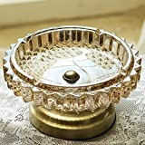 Best Modern Elements Ashtrays - Household European ashtray glass crystal ashtray coffee table Review