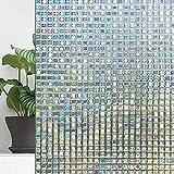 Warmcasa 3D Fensterfolien Fensteraufkleber Sichtschutz Blickdicht Anti-UV Sonnenschutz selbstklebend für Büro oder Zuhause Fensterdeko (44 * 200CM Style 3)