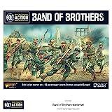 WAR-BB-START - Kriegsherr Spiele - Repetierbock 2. Ausgabe - Band Der Brüder 28mm Starter Set - 36 Miniaturen - Half Track - Regelbuch