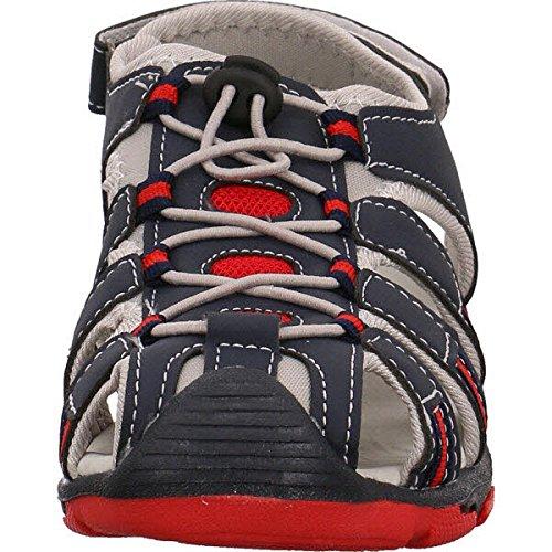 Slobby  45-0522, Chaussures premiers pas pour bébé (fille) Bleu marine/rouge
