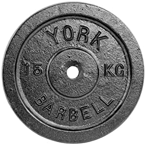 York Fitness Single Standard Cast Iron Disc - 15kg