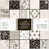 Papermania 12 x 12-inch Capsule Paper, Pack of 32, Midnight Blush preiswert