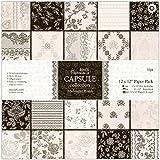 Papermania Capsule Bloc de 32 feuilles Midnight Blush 30,5x30,5cm