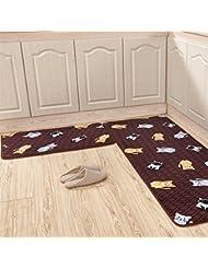 CHENGYI Alfombra La puerta del pasillo Alfombras de puerta cocina Otomanos cuarto de baño Estera antideslizante Tiras largas Absorción de agua Hogar Alfombrillas de baño alfombrillas de tierra ( Color : B )