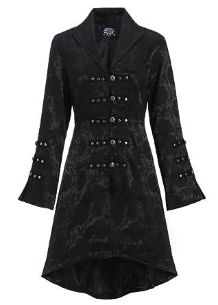 Bien connu Cappotto da donna gotico vittoriano giacca nera con lacci sulla  UN73