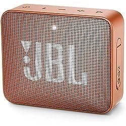 JBL GO 2 Mini Enceinte Portable - Étanche pour Piscine & Plage IPX7 - Autonomie 5hrs - Qualité Audio , Bluetooth, Orange