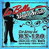 La Bella Bajo Sexto S/less Steel Wnd 6 Double Courses Loop