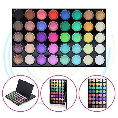 Bare Escentuals Roten Lippenstift (40 Farben-Lidschatten-Palette, KRABICE-Lidschatten-Palette, mutige und helle Sammlung, lebendige, Lidschatten-Augenschatten-Paletten-Make-up-Set # 2)
