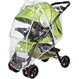 SONARIN Universal Regenschutz für Kinderwagen,Gute Luftzirkulation,Bequemes Kontakt-Fenster,einfache Montage an jedem…