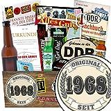 Original seit 1968 | Männer Set | Geschenkideen | Original seit 1968 | INKL. Markenbuch | Männerpaket | Geschenk für eine Freundin | mit Held der Arbeit Flaschenöffner, Bier, Schnaps und mehr