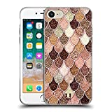 Head Case Designs Rose-Gold Meerjungfrau Waage Muster Soft Gel Hülle für iPhone 7 / iPhone 8