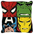 DISNEY MARVEL COMICS Justice Square Cushion, Polyester, Multi-Colour - inexpensive UK light store.