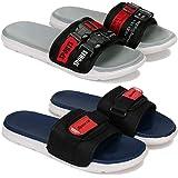 Bersache Fashion Perfect Washable Flip-Flop & Slipper, Slides Walking Slipper for Men Pack of 2