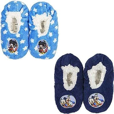 Disney Pantofole Chiuse Antiscivolo in Peluche Topolino e Friends dal 25 al 32
