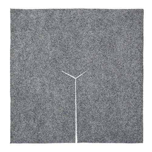 Dalle de paillage carré en feutre 30 cm