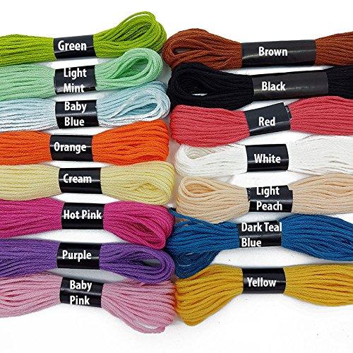 Verschiedene Farben Kreuzstich Baumwolle Stickgarn Nähen Garnknäuel Floss Auf der Zubehör Dachboden Dark Teal Blue -