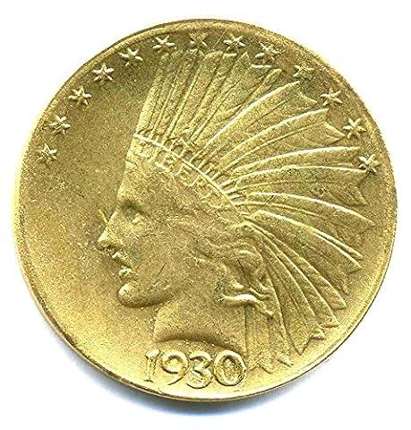 Münze USA 1930 - INDIAN HEAD $10 DOLLARS - United States of America REPLICA