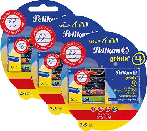 Pelikan 4001 Griffix Großraum-Tintenpatronen 6 x 5 Stück Blisterpackung ( 30 Patronen gesamt )