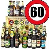 Geschenkideen für Männer zum 60. | Bier 24x | mit Biersorten der Welt und D