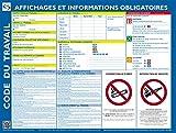 Affichage obligatoire - Panneau plastifié - Feutre + fixations OFFERTS
