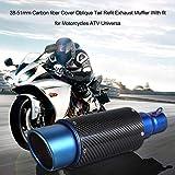 KKmoon 38-51mm Carbonfaser Cover Oblique Tail Refit Auspuff Schalldämpfer Mit Passform für Motorräder ATV Universal