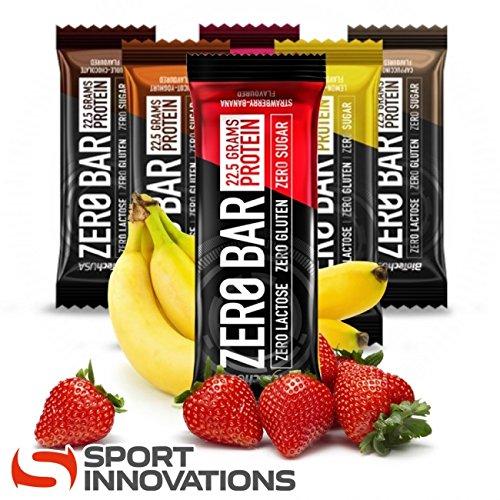 Biotech usa zero bar - barretta proteica, confezione assortita, nuovi gusti, 20pezzi da 50 g